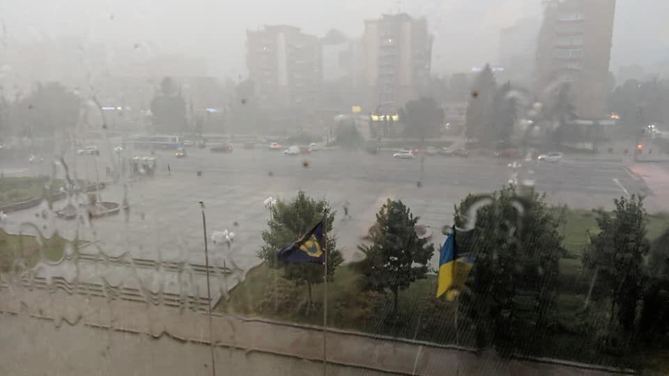 У Черкасах пройшов дощ.