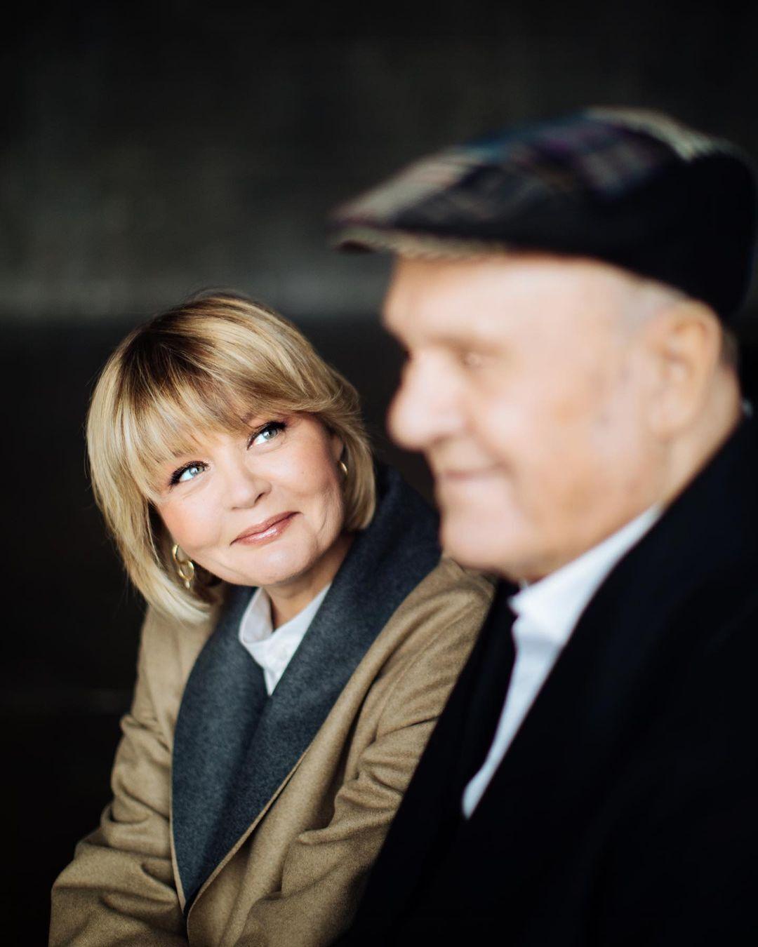 Юлія Меньшова з батьком.