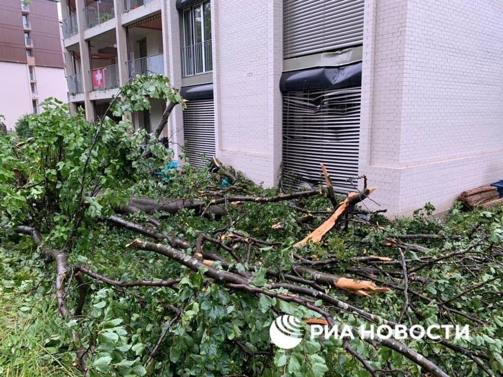 Непогода наделала беды в Цюрихе