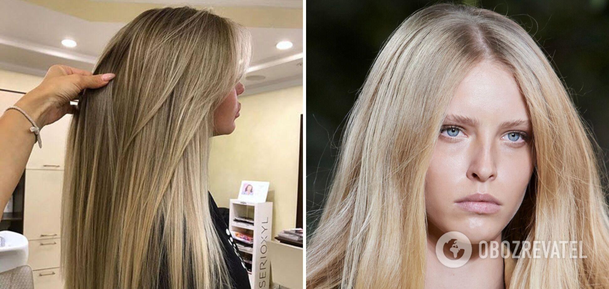 Прикорневой объем и прямые воздушные волосы