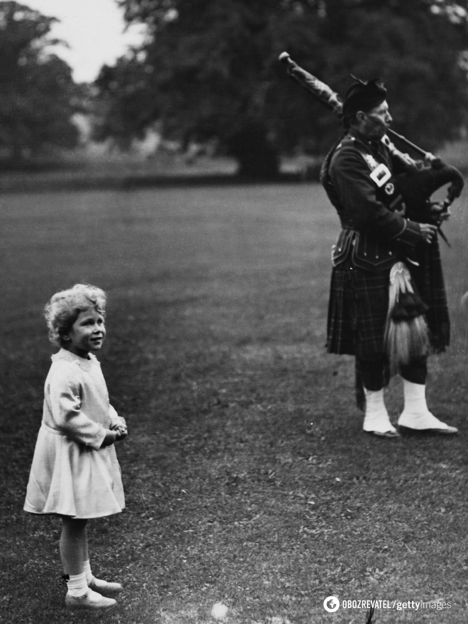 Елизавета II совсем маленькая