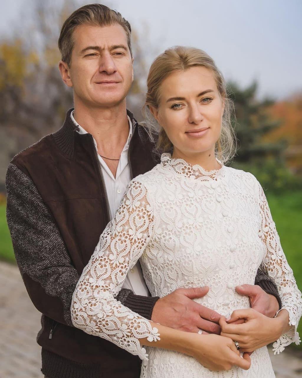 Ольга Горбачова з чоловіком.