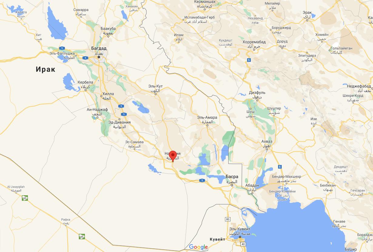 Пожар произошел в больнице города Эн-Насирия.