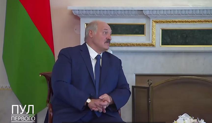 Лукашенко після зустрічі з Путіним.