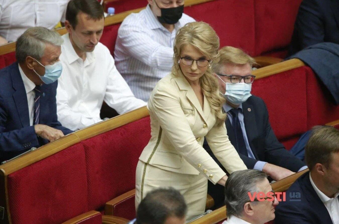 Юлія Тимошенко в парламенті.