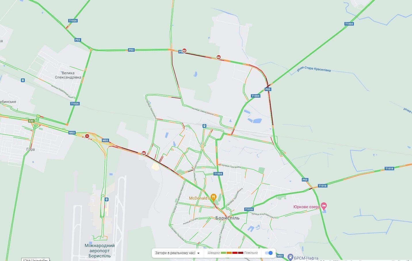 Авария произошла на Кольцевой дороге Борисполя.