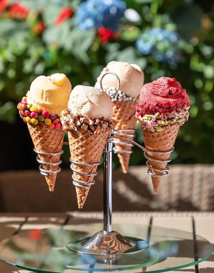 Мороженое с разными вкусами