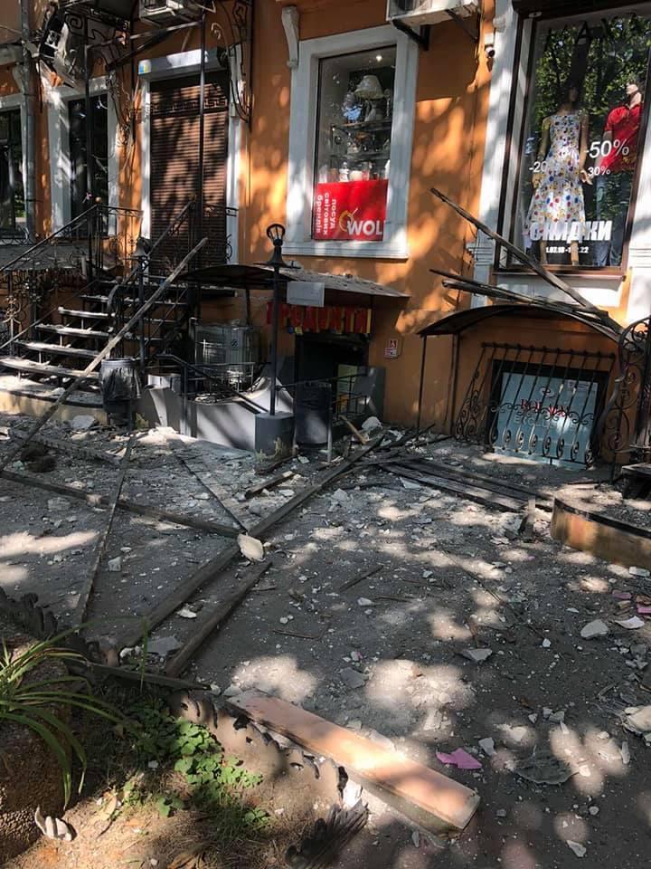 В Одесі обвалився фасад будинку Фелікса Рокка