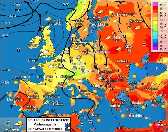 Погода в Україні на тлі решти країн