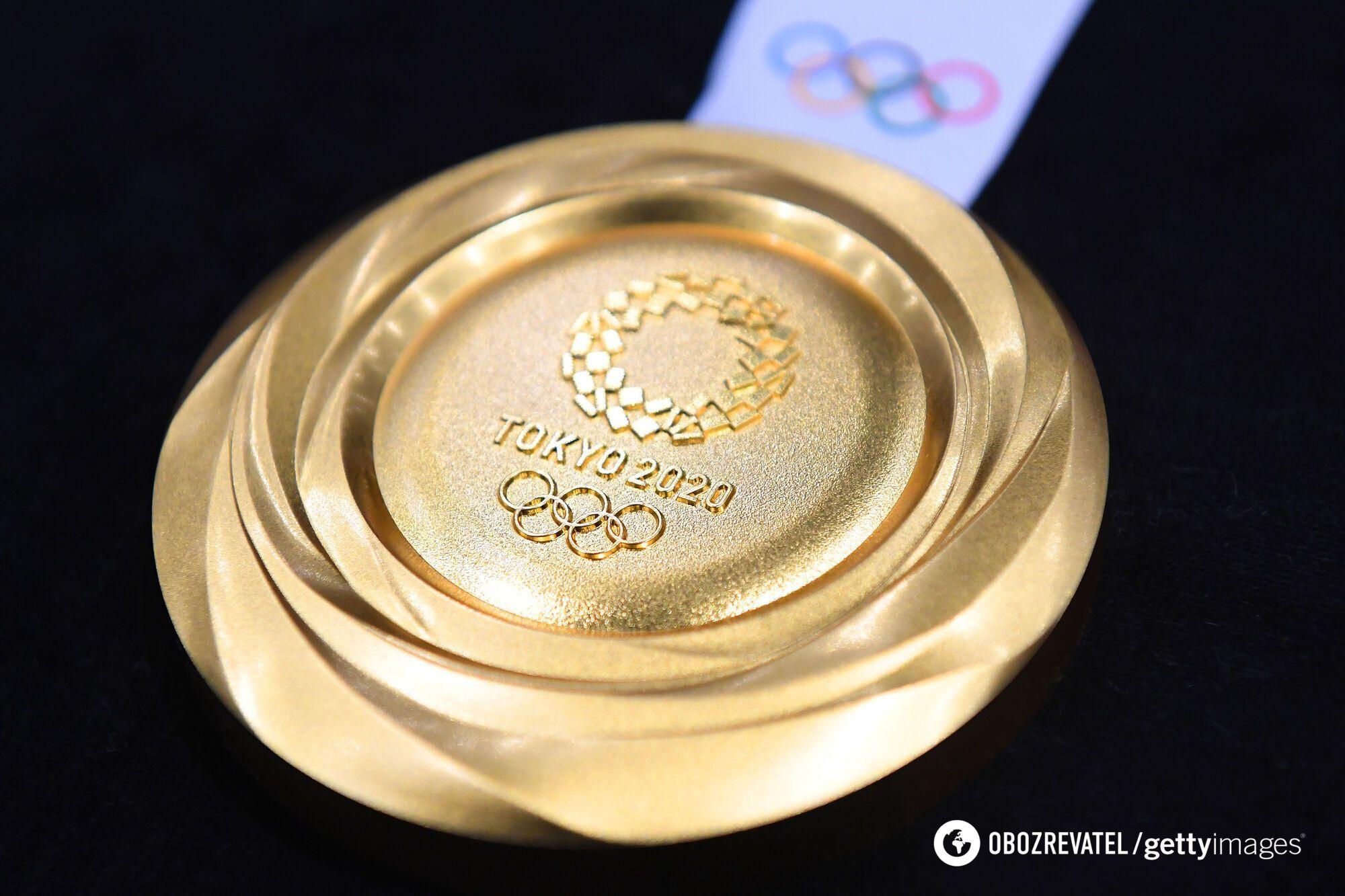 Образец медали, которую будут вручать на ОИ-2020.