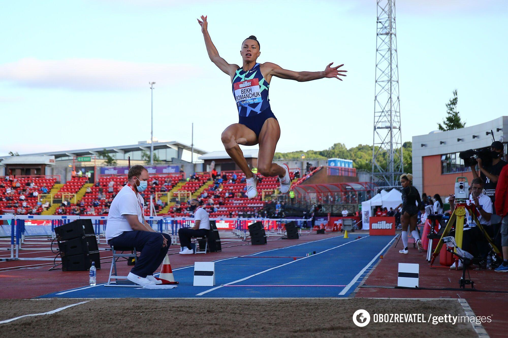 Победный прыжок Марины Бех-Романчук.