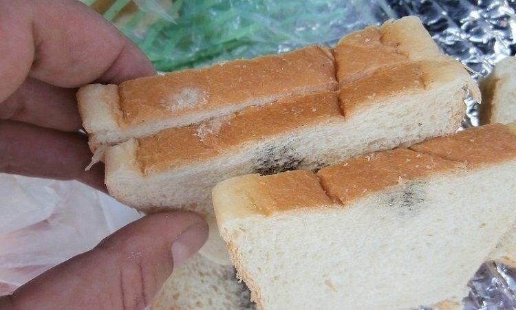 Навіть у хлібі в герметичній упаковці буває цвіль.