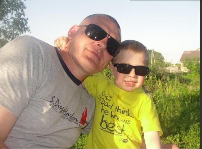 Александр Назарук с сыном.
