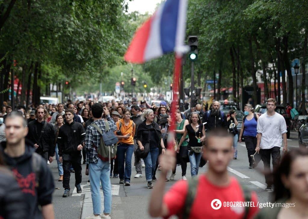 Французы вышли на акцию протеста