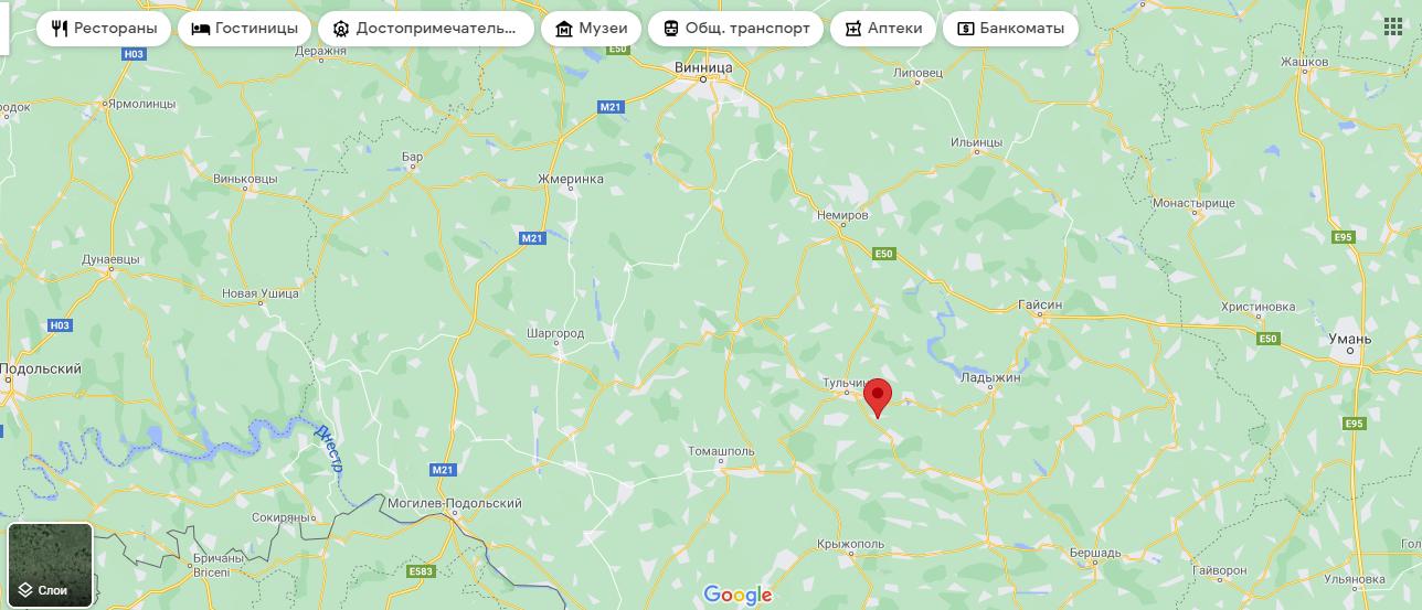 Ганнопіль на мапі