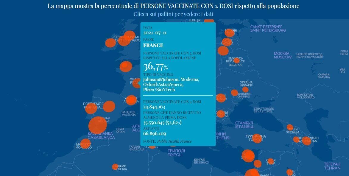 Данные по вакцинации во Франции
