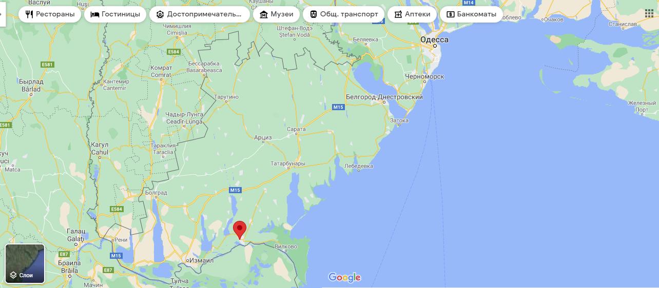 Кілія на мапі