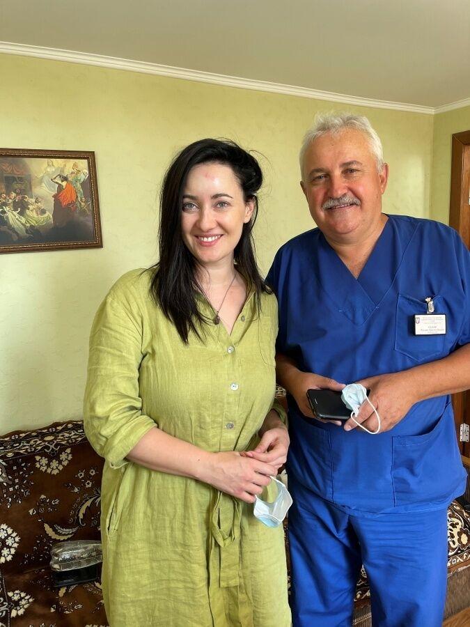 Витвицкая с нейрохирургом.