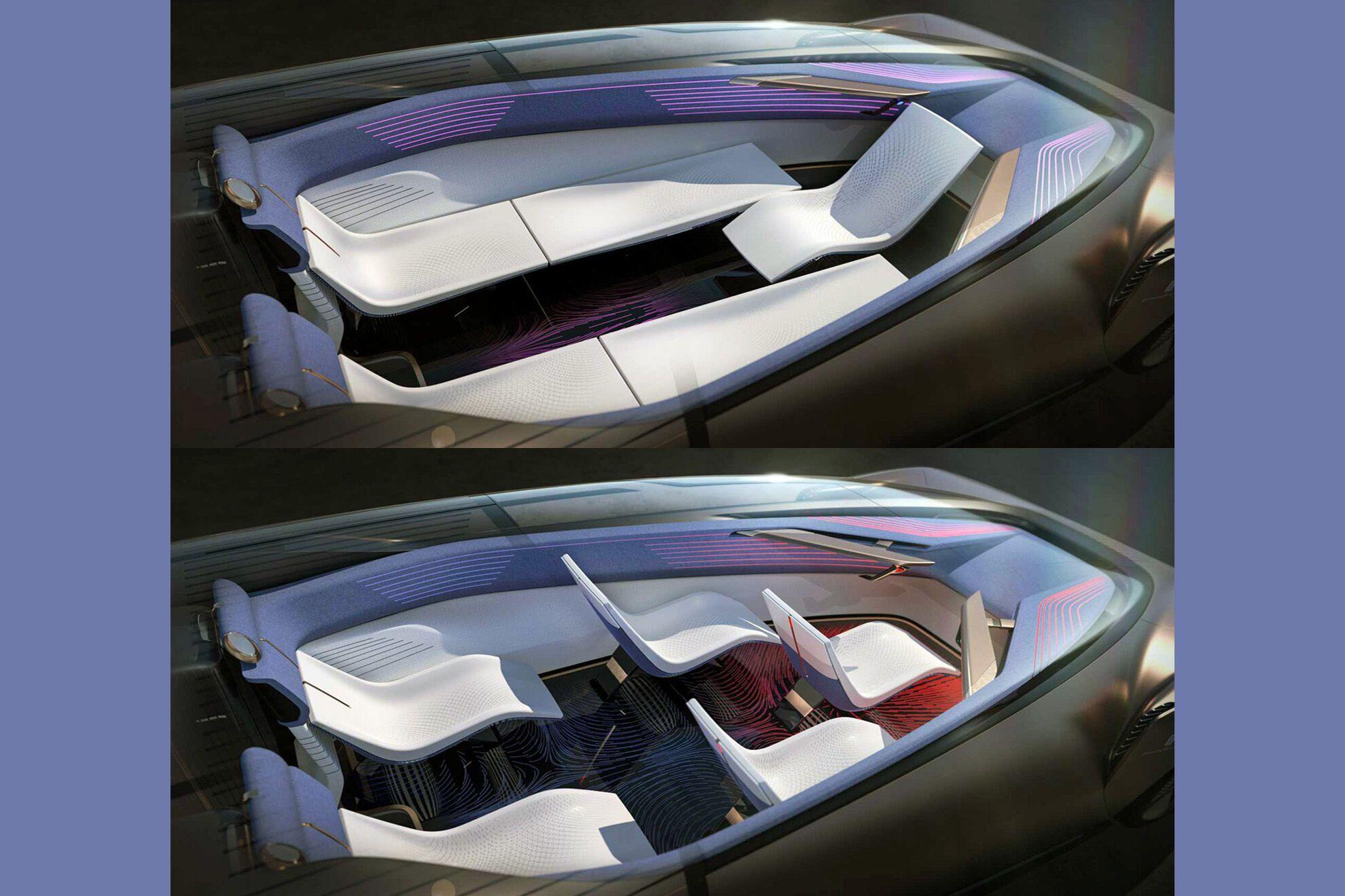 Пассажирские кресла могут трансформироваться в спальные места, а водительское – разворачиваться на 180 градусов