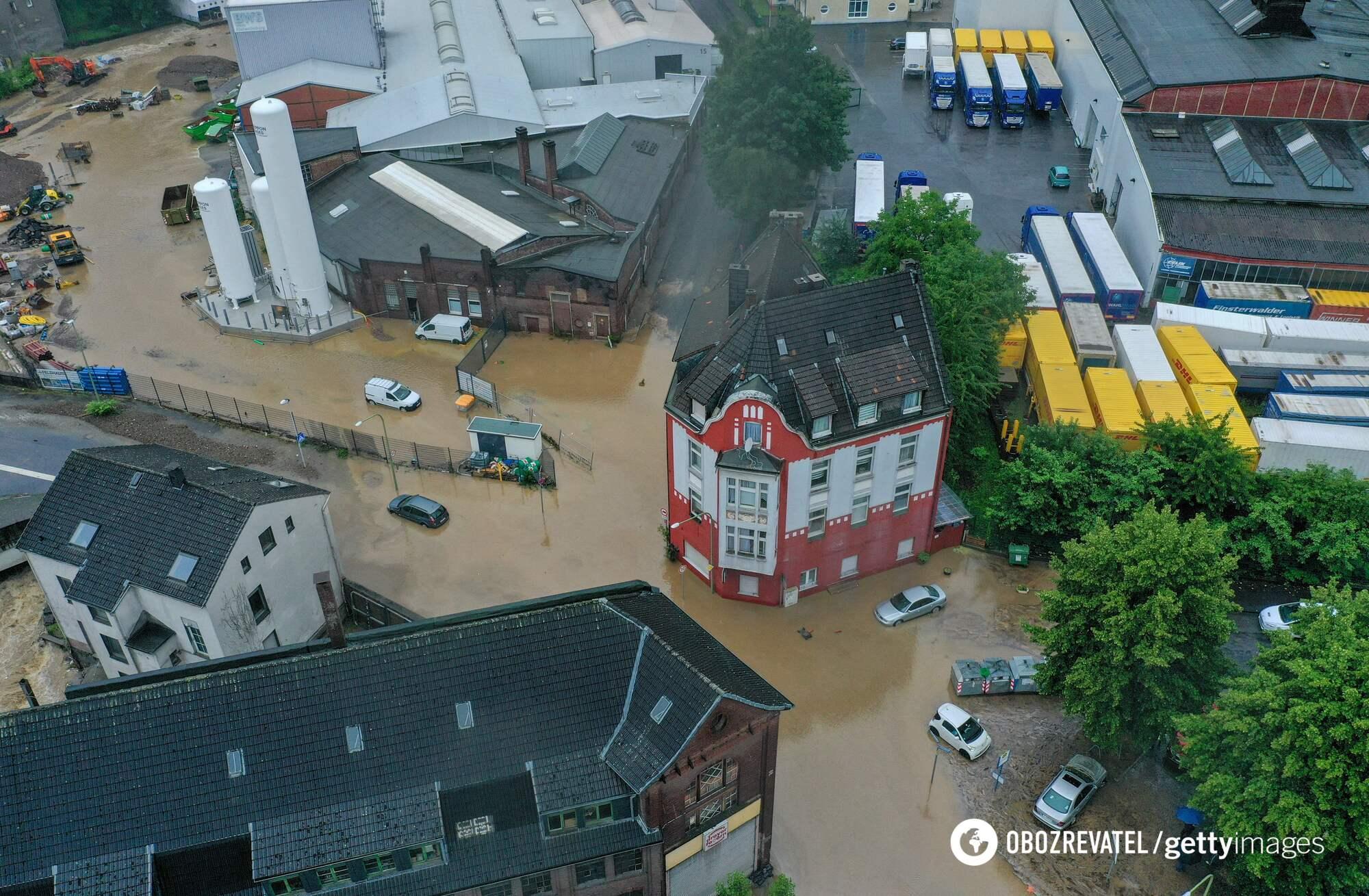 Затоплене місто в Німеччині