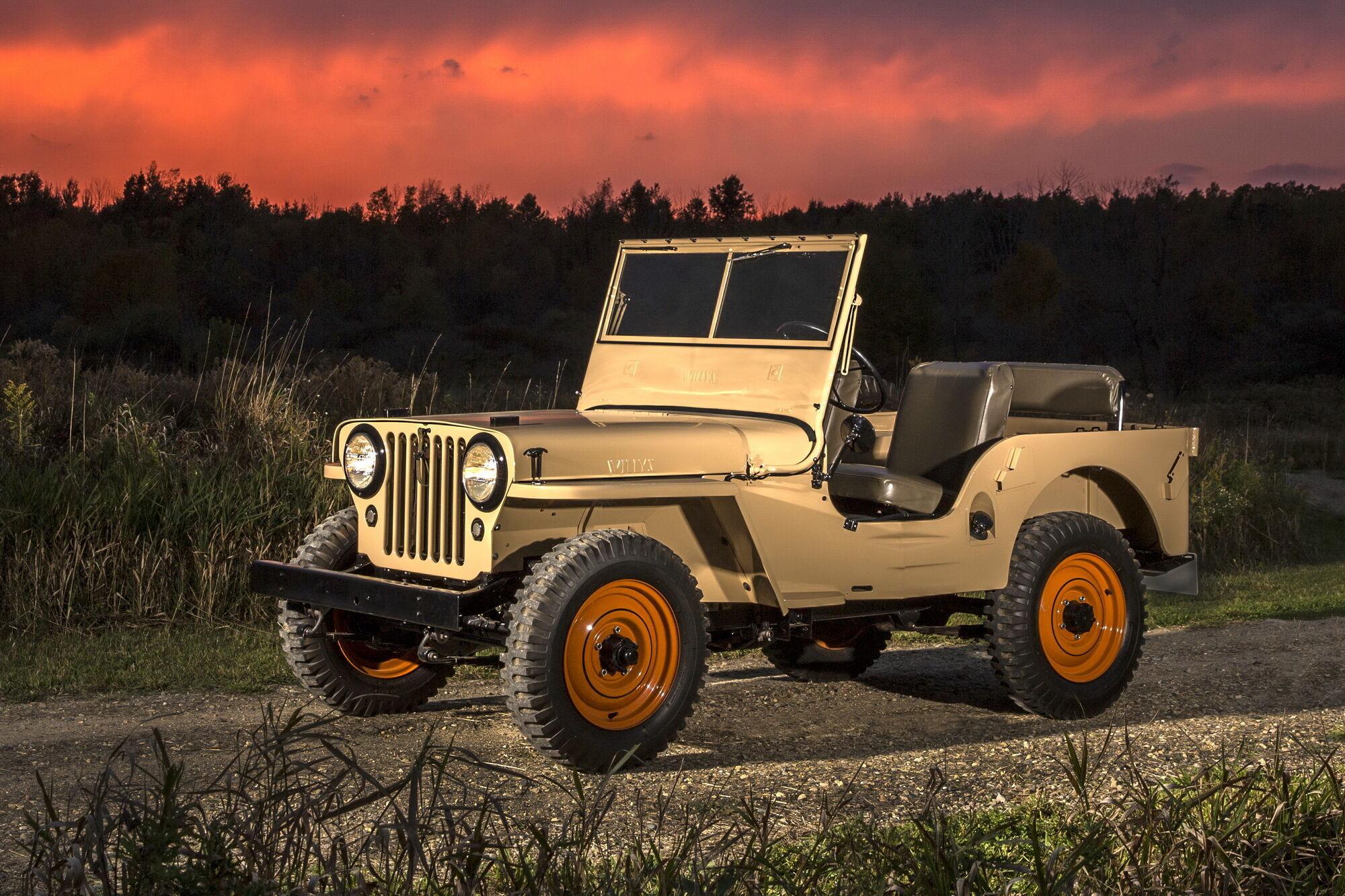 Модель CJ-2A 1945 года стала первым массовым полноприводным внедорожником, доступным для обычных покупателей