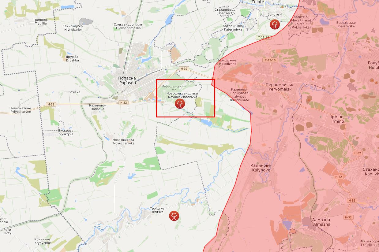 Обстрел в районе Новоалександровки.