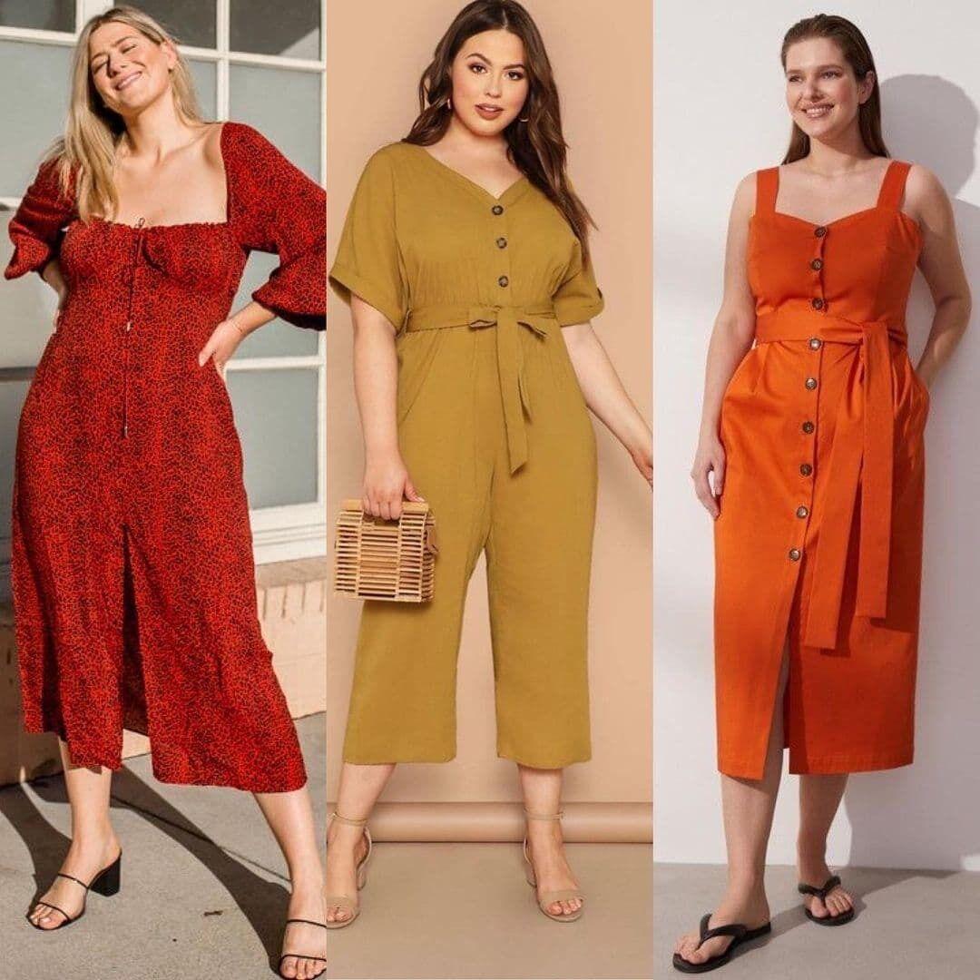 Образи з сукнями і комбінезонами.
