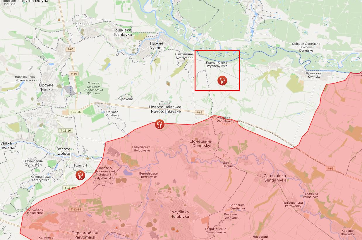 Обстрел в районе Причепиловки.