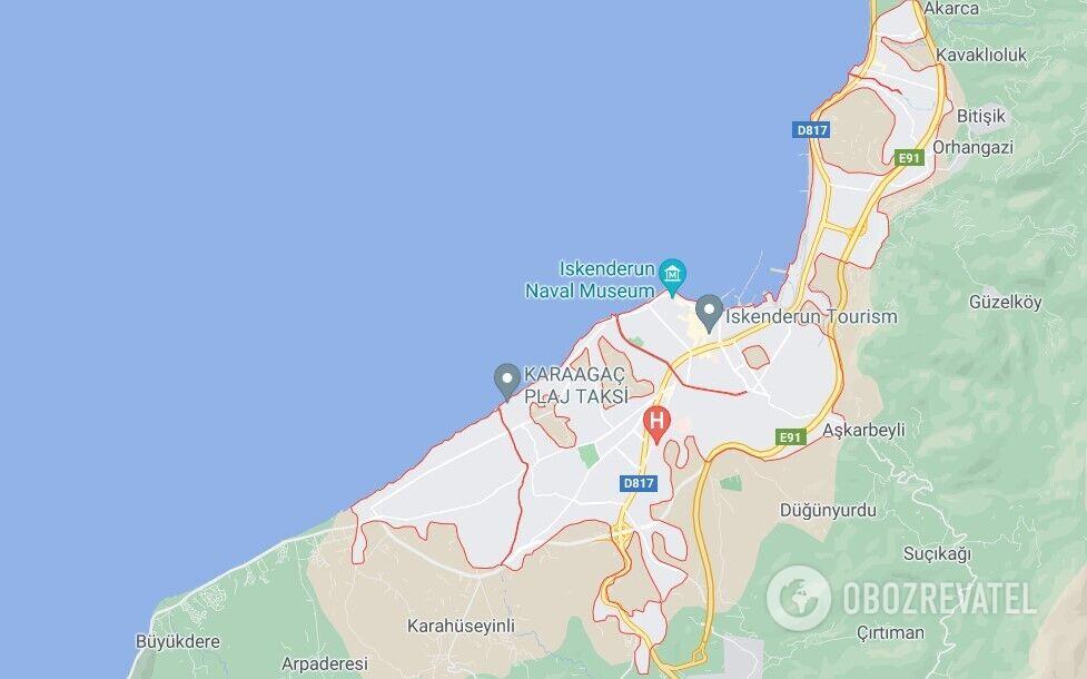 Затримання відбулося в порту Іскендерун 10 липня