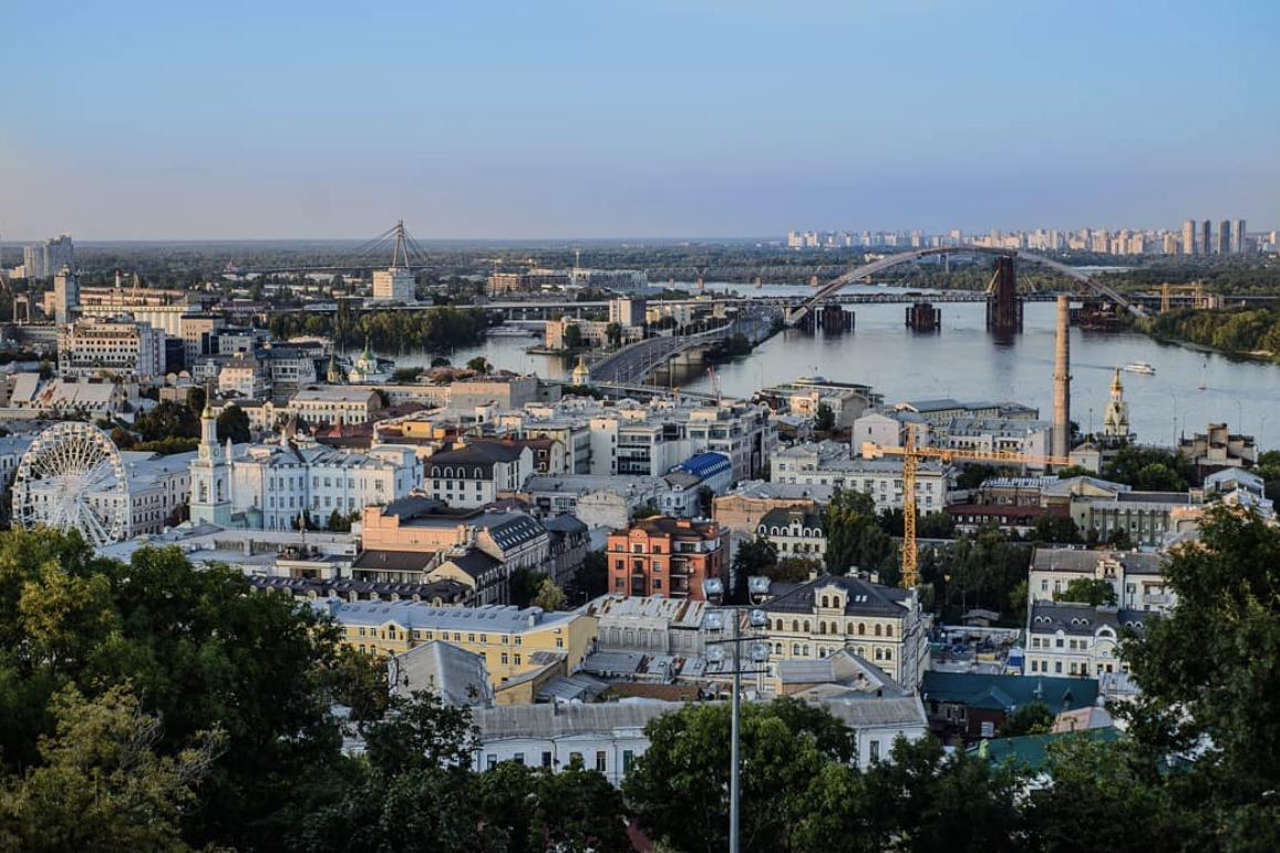 Живописный район Киева – Подол.