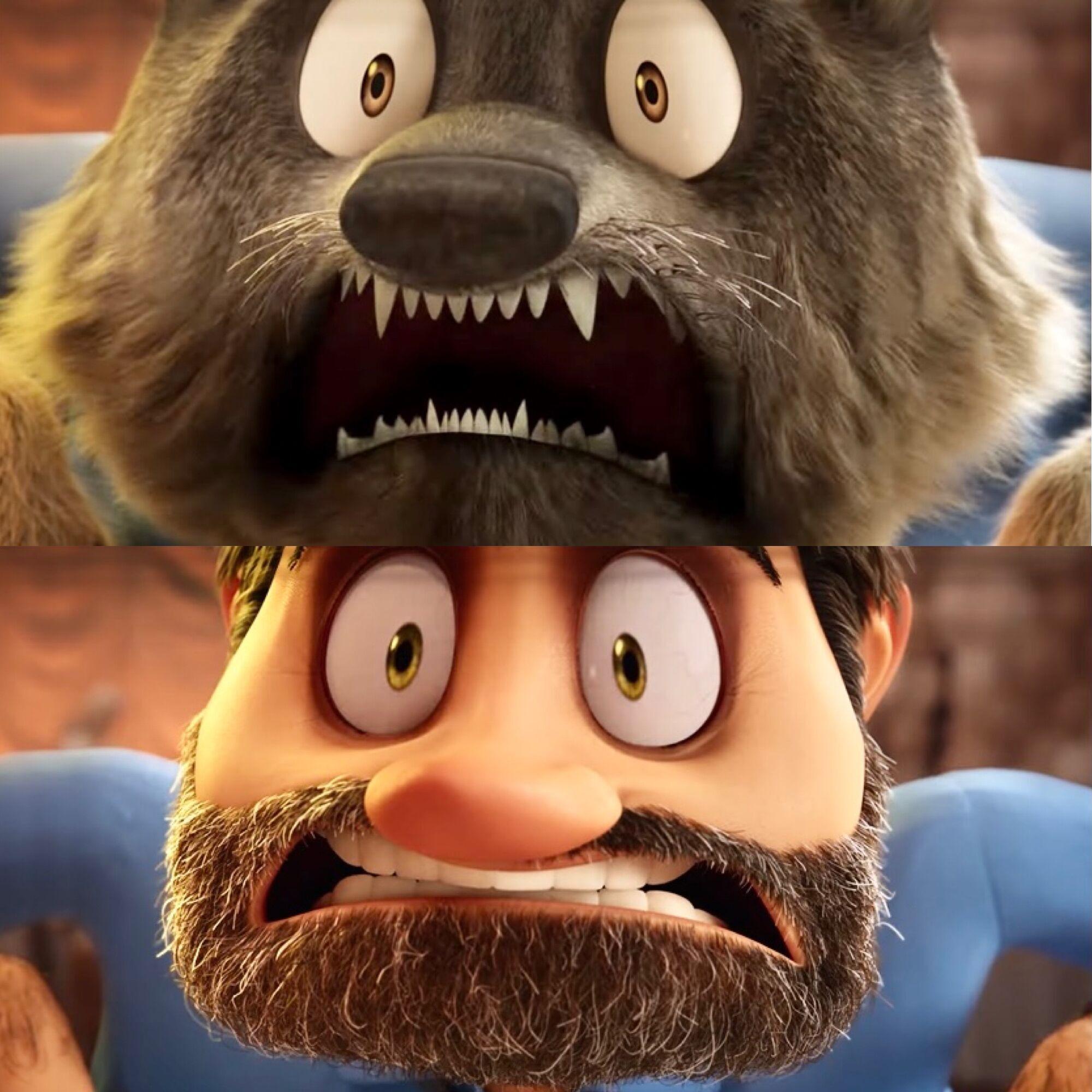 Вовк Вейн скидає з себе хутро і перетворюється на чоловіка з бородою
