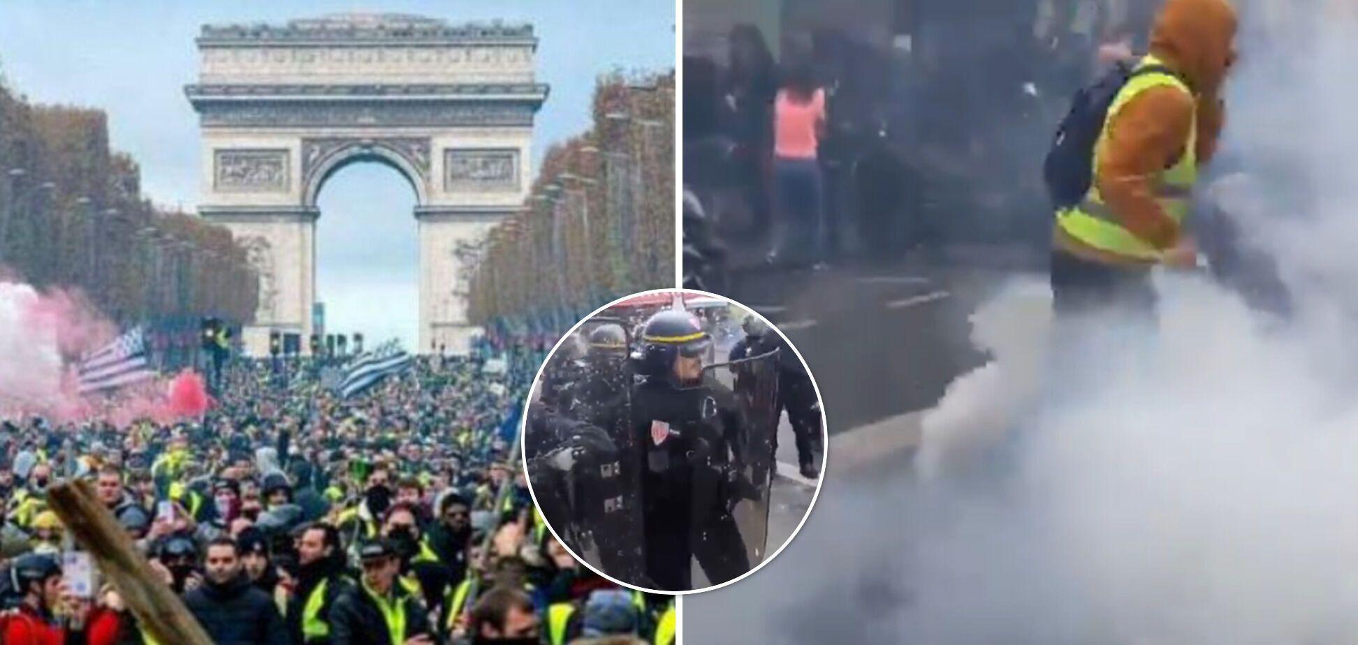 Массовые протесты вспыхнули во Франции