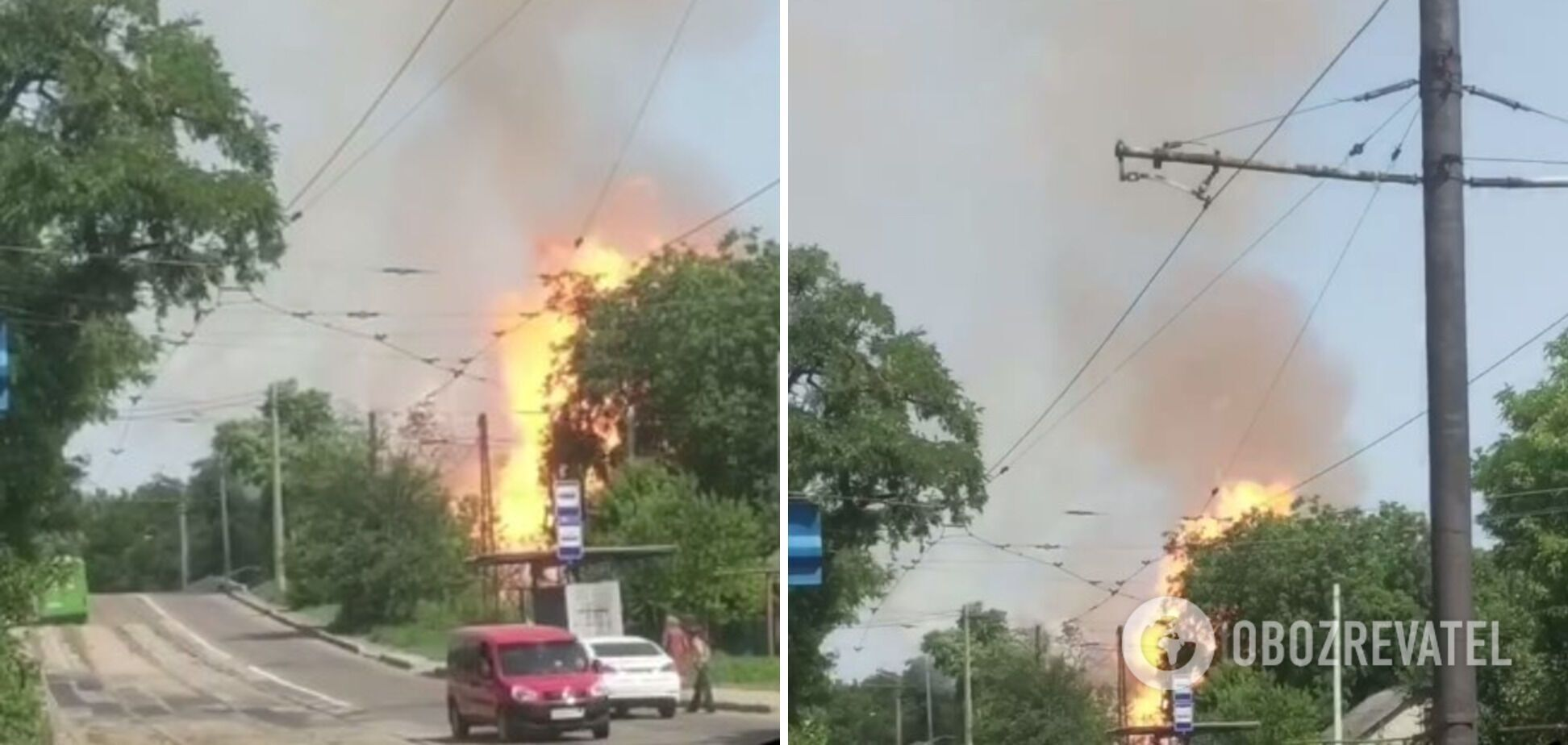 Сильна пожежа спалахнула в Донецьку 16 липня
