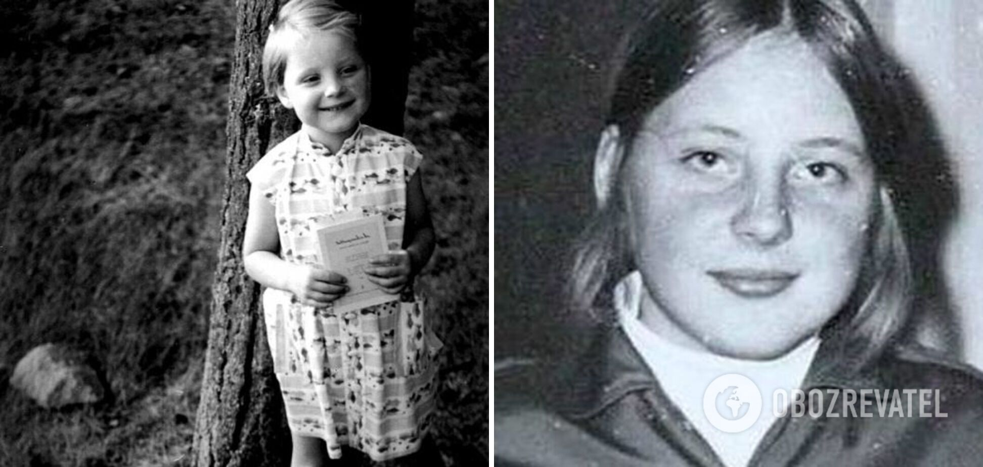 Меркель в детстве была озорной