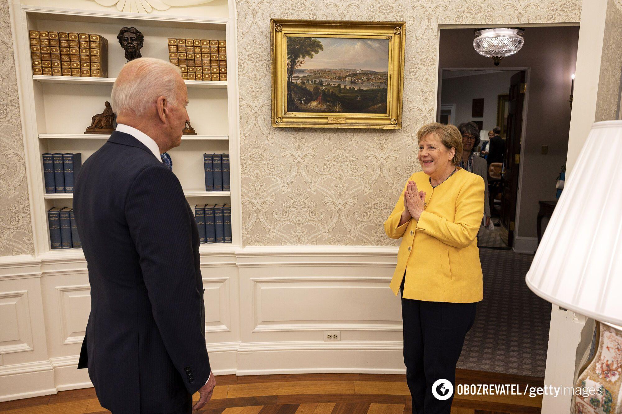 Байден и Меркель в Белом доме