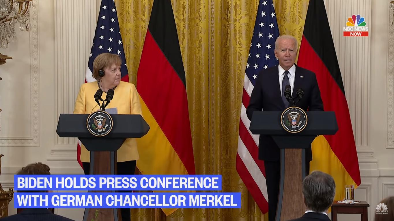 Пресс-конференция Меркель и Байдена