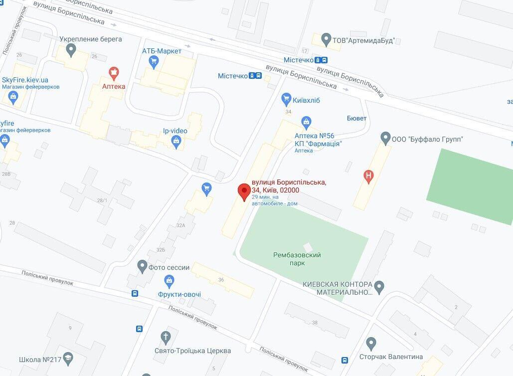 Подія сталась на вулиці Бориспільській, 34.