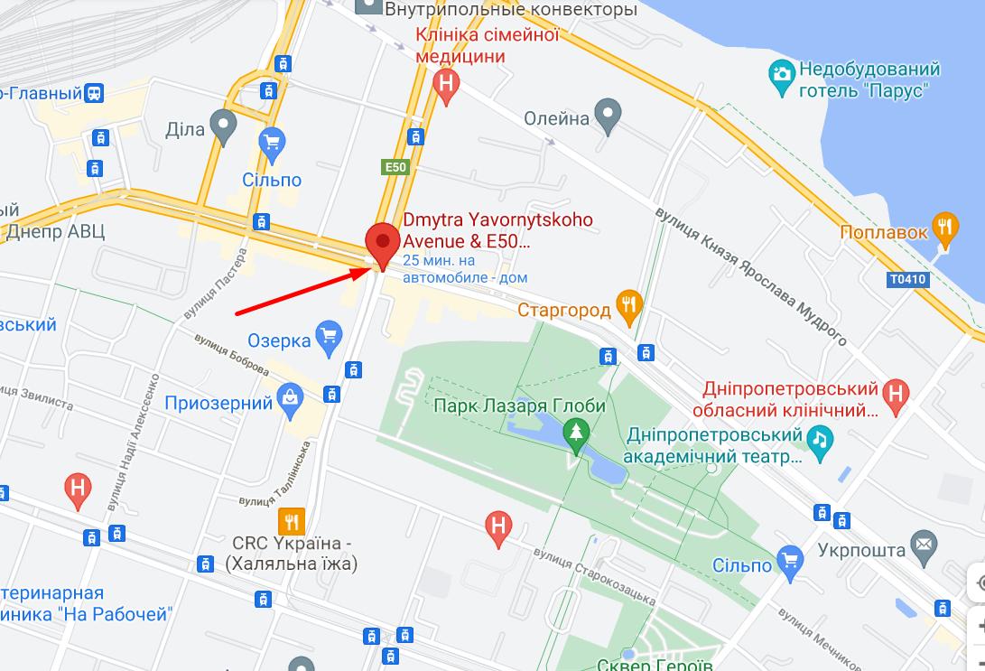 """НП сталася в центрі Дніпра біля """"Озерки""""."""
