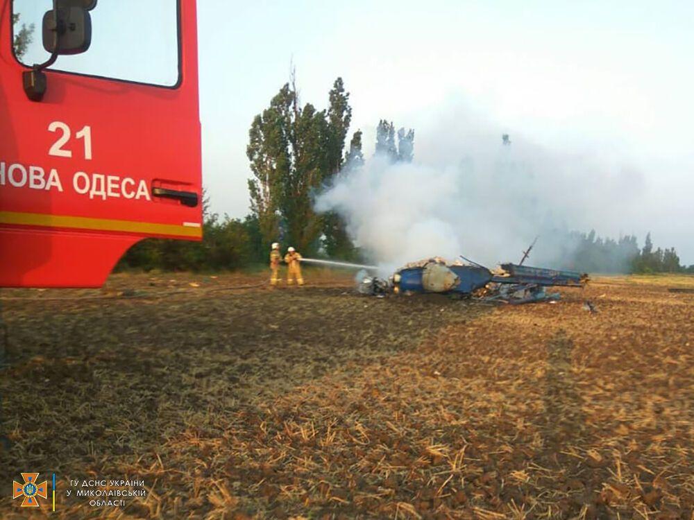 У Миколаївській області згорів вертоліт