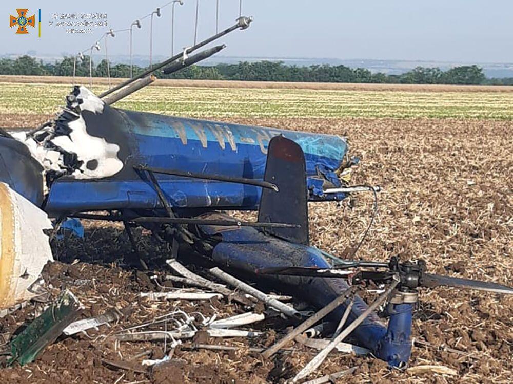У Миколаївській області впав вертоліт з людьми