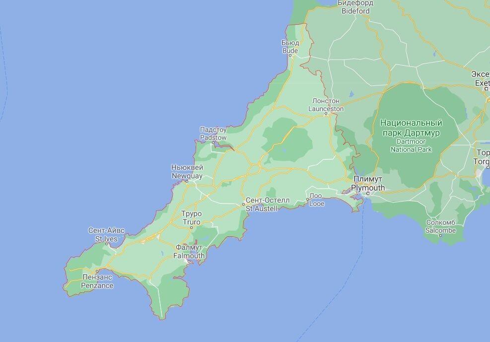 Акулу помітили біля узбережжя Корнуолла.