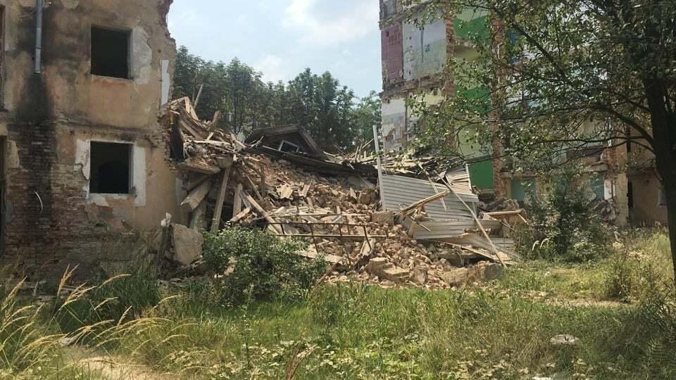В Дрогобыче обвалился дом.