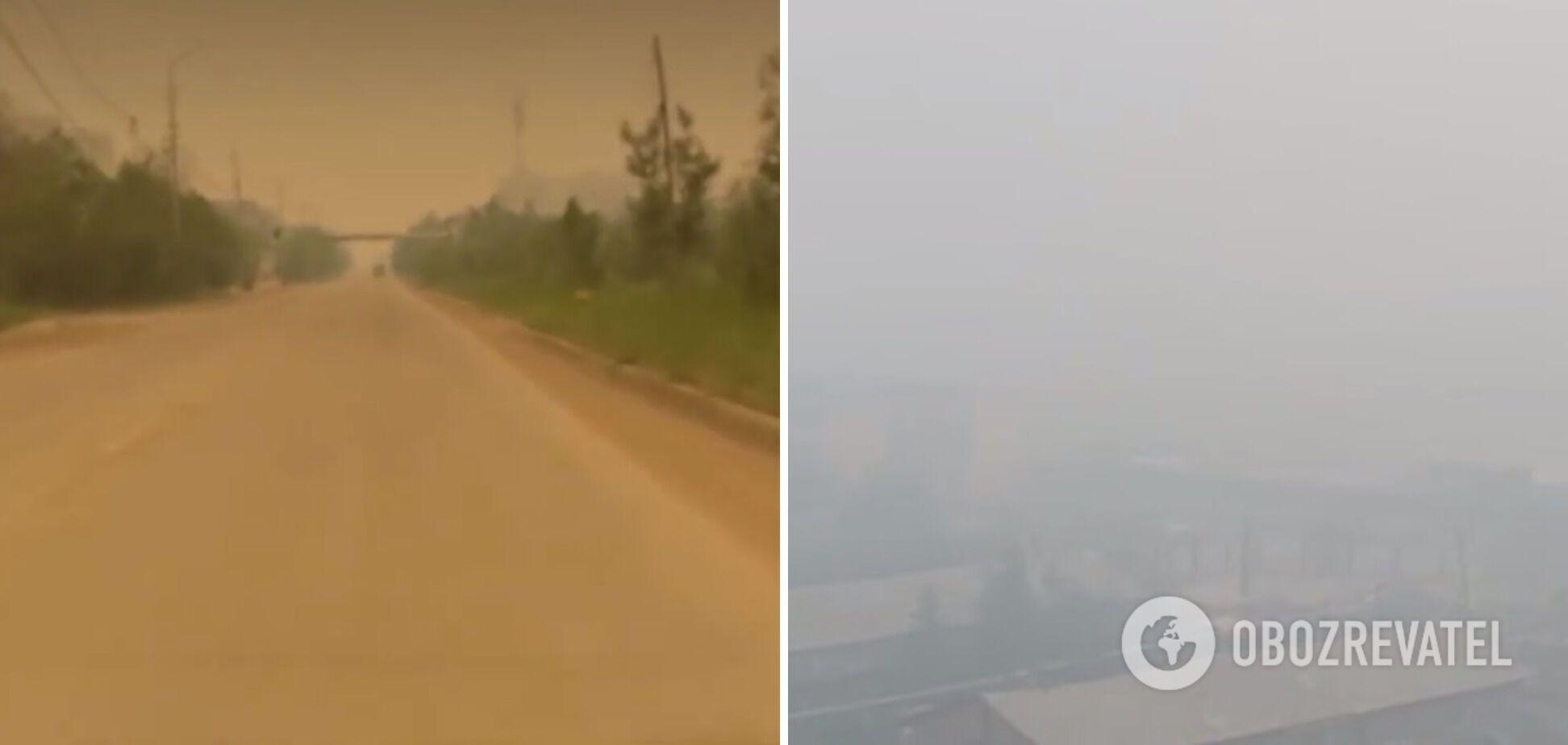 Последствия лесных пожаров в Якутии.