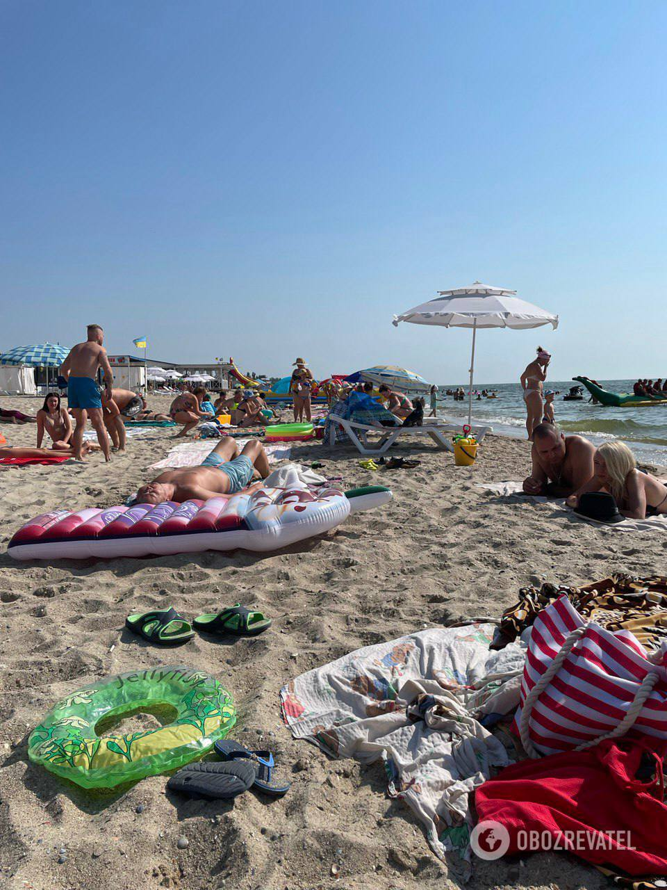 На Одещині море відпочивальників.