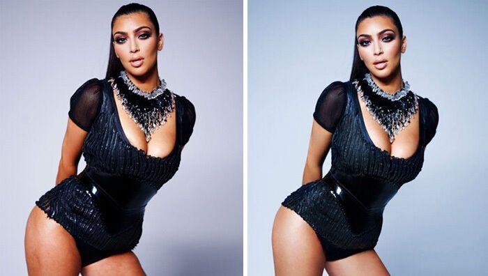 Ким Кардашьян любит использовать фотошоп.