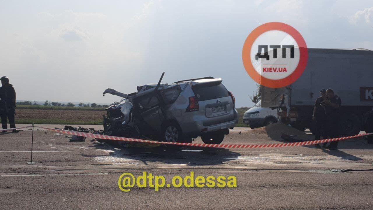 Последствия ДТП под Одессой.