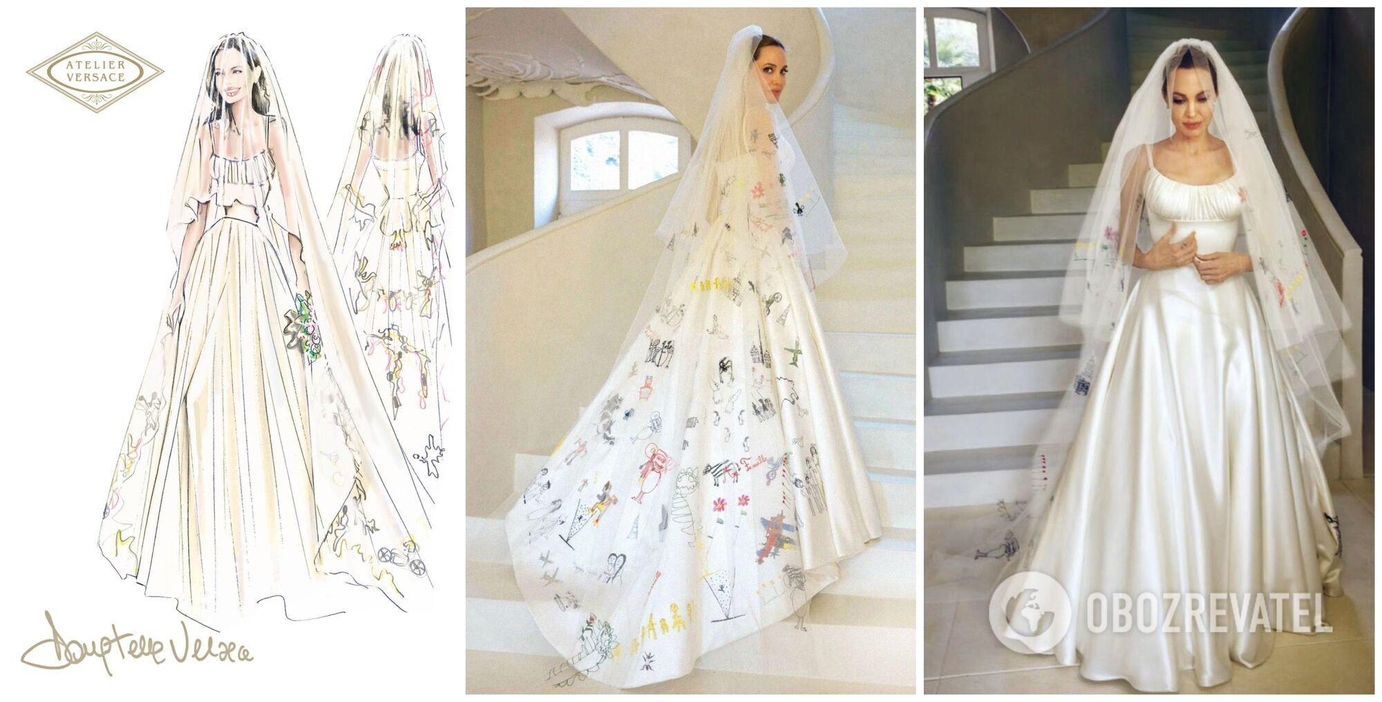 Свадебное платье Анджелина Джоли в 2014 году из ателье Versacе