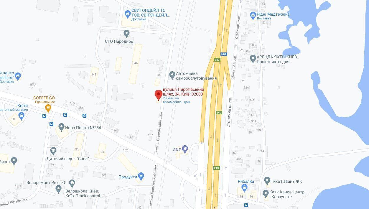 Вогонь виник на вулиці Пирогівський шлях.