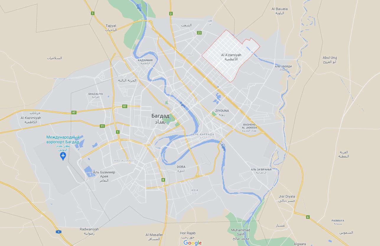 Взрыв прогремел в районе Мадинат ас-Садр.