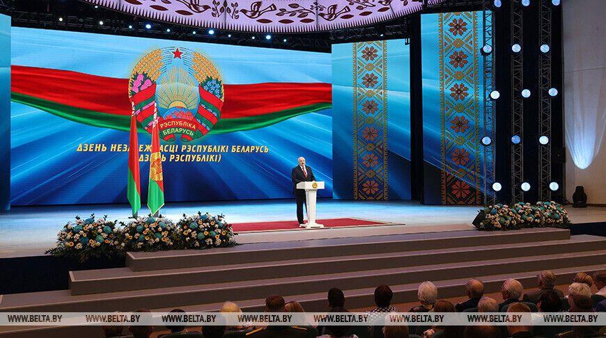 Лукашенко на праздничном мероприятии